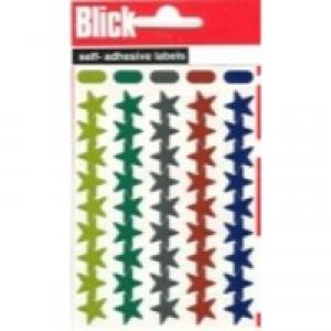 Blick Labels 14mm Metal Star Assrtd Pk20