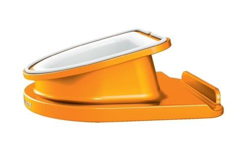 Leitz WOW Complete Rotating Desk Stand for iPad/tablet PC Orange Metallic