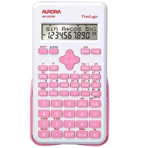 Aurora AX-582PK Scientific Calculator Pink