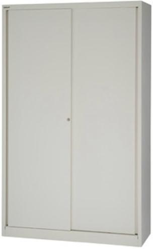 Bisley Sliding Door Cupboard 1980mm with 4 Shelves Chalk