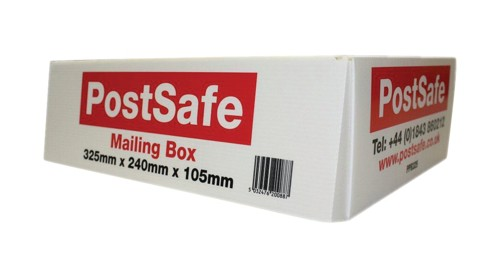 Postsafe Polypropylene Mailing Box 325x240x105mm White