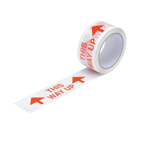 Printed Polypropylene Tape This Way Up 50mmx66m Pack 6