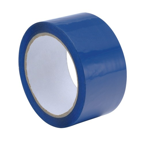 Coloured Polypropylene Adhesive Tape 50mmx66m Blue Pack 6