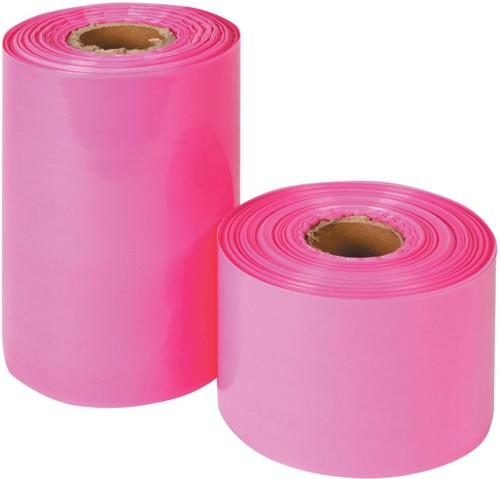 Layflat Tubing Pink Anti Static Polythene 150mmx150m AST256-150