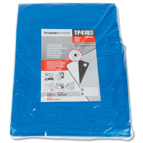 Industrial Tarpaulin Eyeletted 5x4m TP4103
