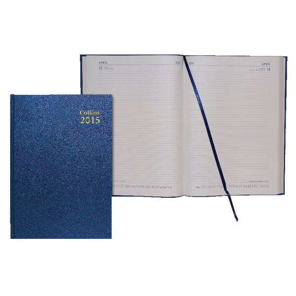 Collins 2015 Dy/Page A4 Diary 44 Blue