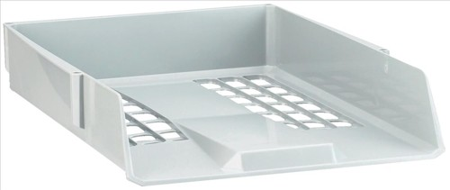 Avery Basics Letter Tray Stackable Versatile A4 Foolscap 278x390x70mm Light Grey Code 1132LGRY