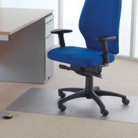 Floortex Value Chair mat with rounded edge is designed for use on carpets. Dimensions: 1200x750mm.