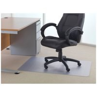 Cleartex Phthalate-Free Chairmat 115x134 cm. For low-pile carpets