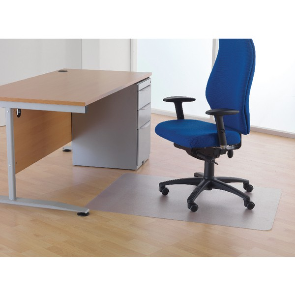 Cleartex Phthalate-Free Chairmat 115x134cm. For hard floors