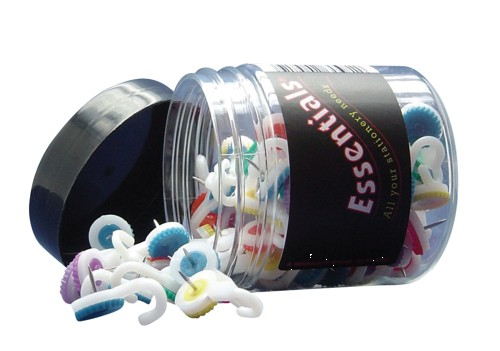Hook Push Pins Assorted Colours