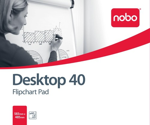 Nobo Desktop Flip-over Pad for Flip-over Easel 40 Sheets B1 Plain Code 34631170