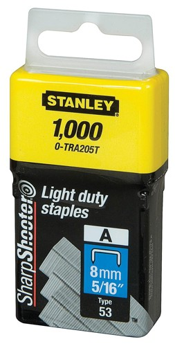Stanley Light Duty Staples 8mm Pack 1000