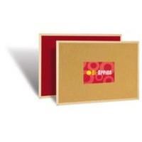 Bi-Office Double Sided Felt Cork Memo Board Red 600x400mm
