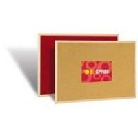 Bi-Office Double Sided Cork/Felt Notice Board 900x600mm