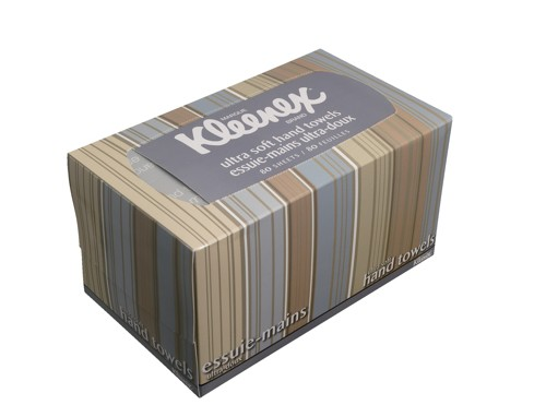 Kleenex Hand Towels Cloth-Like Feel in Splash-Resistant Box for Counter Top 80 Sheets Code 17030