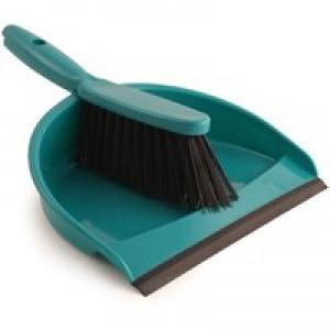 Soft Bristle Green Dustpan & Brush Set