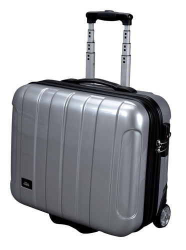 JSA Business Trolley with Removable Laptop Case ABS Silver 45523