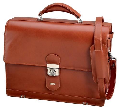 Alassio Mocca Briefcase Cognac 47124