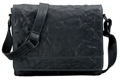 Pride & Soul Messenger Bag Storm Leather Black 47169
