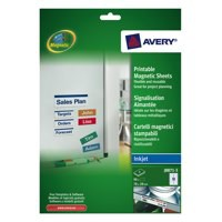 Avery Magnetic Sign Removeable 78x28mm 18 per Sheet J8871-5