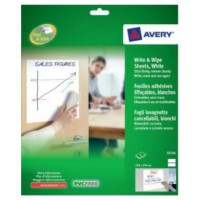 Image for Avery Write and Wipe Square Format A4 Sheets Ref 70704 [4 Sheets]