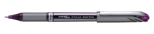Pentel EnerGel NV Medium Metal Tip Pen Violet 0.7 BL27V