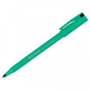 Pentel R50 Rollerball Pen Green Barrel Water-based 0.8mm Tip 0.4mm Line Black