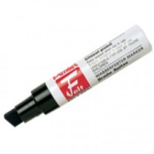 Pentel M180 Jumbo Permanent Marker Chisel Tip max.14mm Line Black Code M180/6-A