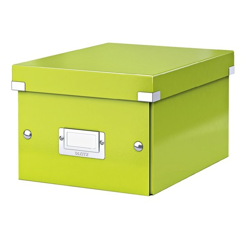 Leitz WOW Click and Store Small Storage Box For A5 Green Ref 60430064