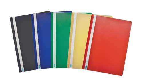Elba Report File Polypropylene Capacity 160 Sheet Clear Front Cover A4 Black Ref 400038754 [Pack 25]