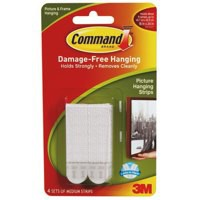 3M Command Adhesive Medium Picture Hanging Strips Pack 4