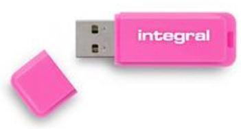 Integral Neon USB Drive Pink 16GB