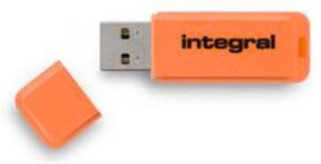 Integral Neon USB Drive Orange 16GB