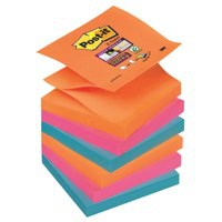 Post-it Z-Notes Electric Glow 76x76mm R330-6SS-EG Pack 6