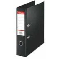 Esselte No. 1 Power Lever Arch File PP Slotted 75mm Spine Foolscap Black Ref 48087 [Pack 10]