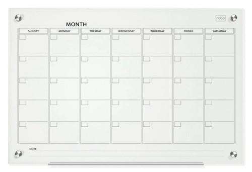 Nobo Glass Mgntc Calendar Brd 900x1200mm