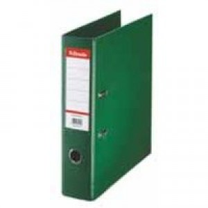 Esselte No. 1 Power Lever Arch File PP Slotted 75mm Spine A4 Green Ref 811360 [Pack 10]