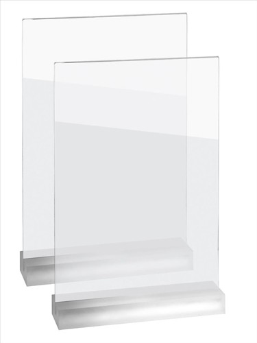 Sigel Frozenacrylic Table-Top Display Frame A4 Upright Pack 2