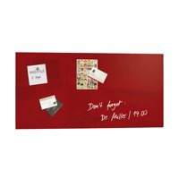 Sigel Artverum Magnetic Glass Board Red 910x460x15mm