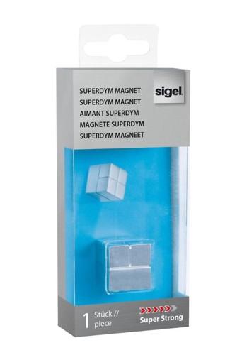 Sigel SuperDym Tacking Magnet C20 Super Strong Cube-design Silver