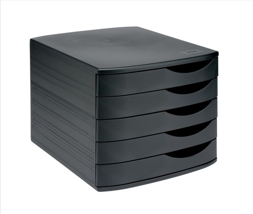 invo Desk Drawer Set 5 Drw Black/ Black