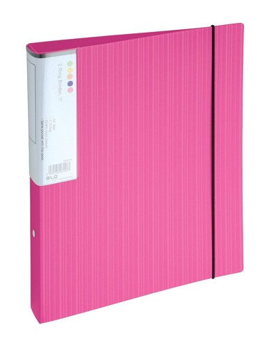 GLO 2Ring Binder A4 25mm Pink