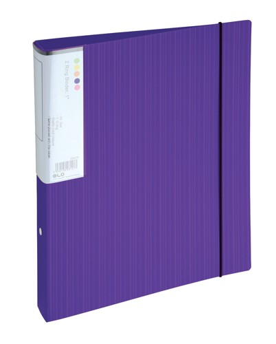 GLO2Ring Binder A4 25mm Purple