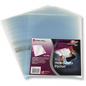 Rexel Nyrex Pocket Heavy-duty Side-opening A4 Clear Ref 11011 [Pack 25]