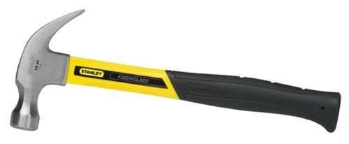 Stanley Fibreglass Curved Claw Hammer 454g / 16oz