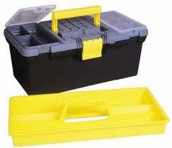 Stanley Toolbox 16in 2 Built-in Organiser Sections & Removable Tote Tray