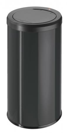 Hailo Big Bin 45 Litre Medium Steel Touch Bin Black