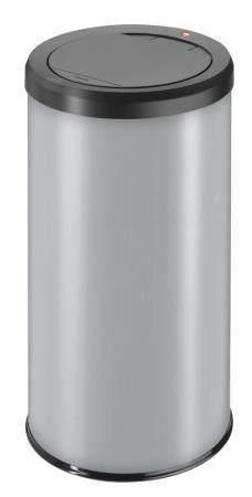 Hailo Big Bin 45 Litre Medium Steel Touch Bin Silver
