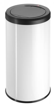 Hailo Big Bin 45 Litre Medium Steel Touch Bin White